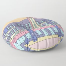 North Center Street - Reno, USA Floor Pillow
