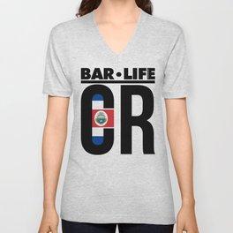 Costa Rica Bar•Life Unisex V-Neck