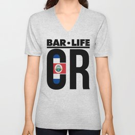 Costa Rica Bar•Life Unisex V-Neck