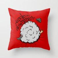napoleon Throw Pillows featuring Napoleon Blownaparte by Koenu
