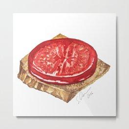 Tomato Toast by Scarlett Damen Metal Print