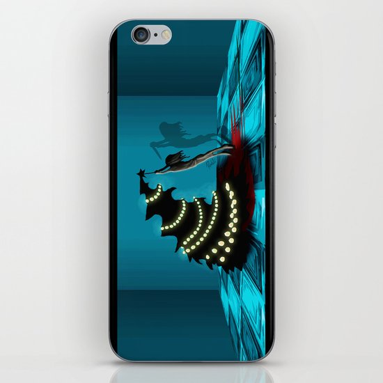BLACK XMAS: Decorating the Christmas Tree iPhone & iPod Skin
