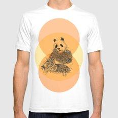 saving panda MEDIUM Mens Fitted Tee White