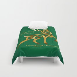 Celtic knot zodiac stag Comforters