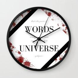 Nevernight Wall Clock