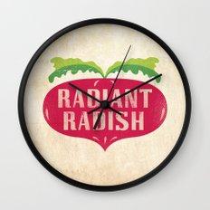 Radiant Radish Wall Clock
