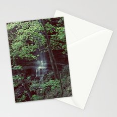Waterfall Green Trees Color Photography Stationery Cards