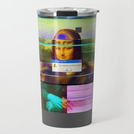 Mona Lisa _corrupt Travel Mug