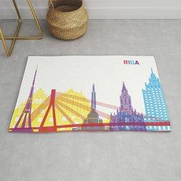 Riga skyline pop Rug