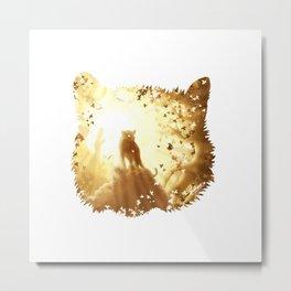 Mountain Tiger Metal Print