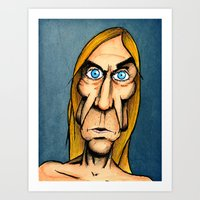 iggy Art Prints featuring Iggy Pop by Andres Denkberg