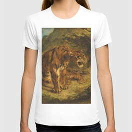 """Eugène Delacroix """"Tiger on the Look-Out or Growling Tiger"""" T-shirt"""