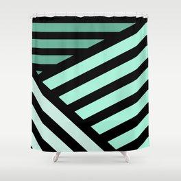 STRIPED {MINT} Shower Curtain