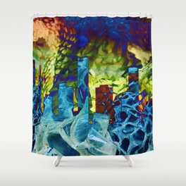 Snakes of the City Shower Curtain