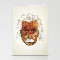 einstein Stationery Cards featuring Einstein by Jason Ratliff
