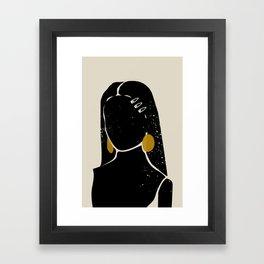 Black Hair No. 3 Framed Art Print