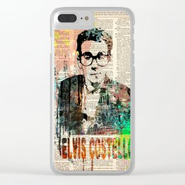 ELVIS COSTELLO #on dictionary page Clear iPhone Case