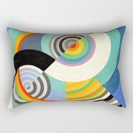 Robert Delaunay - Rythme no 3 - Rhythm no 3 - Abstract Colorful Art Rectangular Pillow