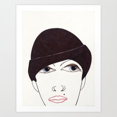 girl in a hat Art Print