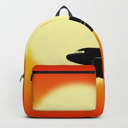 DC-3 passing sun Backpack