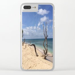Natural Beach Art Clear iPhone Case
