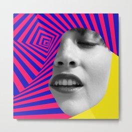 Optical Portrait Metal Print
