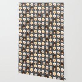 Golden Girls Grey Pop Art Wallpaper