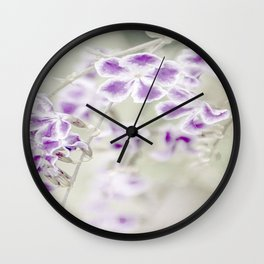 Darn Those Flowers Wall Clock
