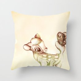 little bambi Throw Pillow