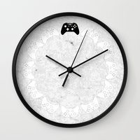 xbox Wall Clocks featuring Xbox One Controller by Tino-George