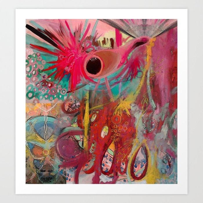 Peacock Dreaming Art Print