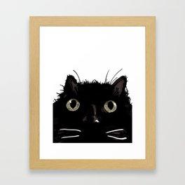 The Black Cat Bijou Framed Art Print