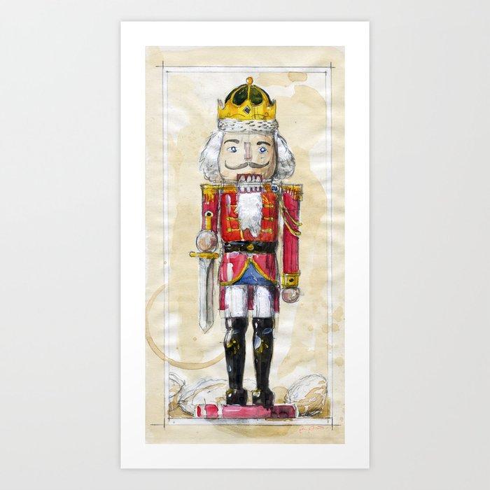 Christmas Nutcracker.Christmas Nutcracker Art Print By Petrieart