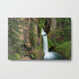 Image USA Toketee Falls Oregon Cliff Nature Waterfalls Moss Crag Rock Metal Print