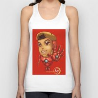 stark Tank Tops featuring Tiny Stark by garciarts