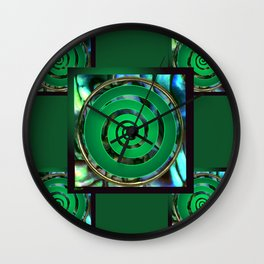 Paua Koru 1 Wall Clock