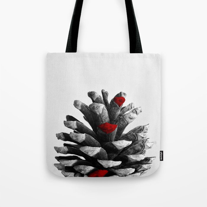 pinecone nature plants red Tote Bag