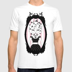 Lady CriCri SMALL Mens Fitted Tee White
