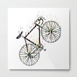 Racing Bike Colorful Colors Cycling Art Metal Print