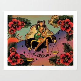 Tattoo Libra Art Print