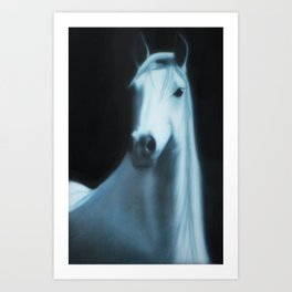 Annakai - The White Spirit Horse Art Print