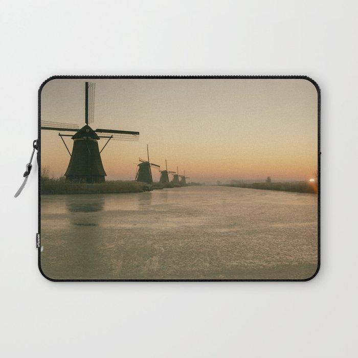 Sunrise at Kinderdijk IV Laptop Sleeve