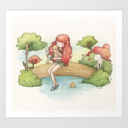 Forest Girl Art Print