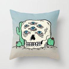 DIE IN THE DESERT Throw Pillow