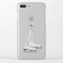 Figure skates Clear iPhone Case