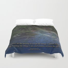 Serenity Prayer Blue Creek Duvet Cover