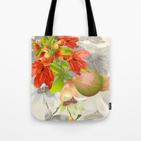 pomegranate Tote Bags featuring Pomegranate. by Nato Gomes