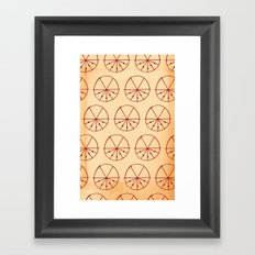 Circle Sections Framed Art Print