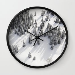 Mountains - Trees - Forest - Snow - Cold - Winter - Nature. Little sweet moments. Wall Clock