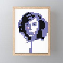 8 Bit Portrait of a Girl Framed Mini Art Print